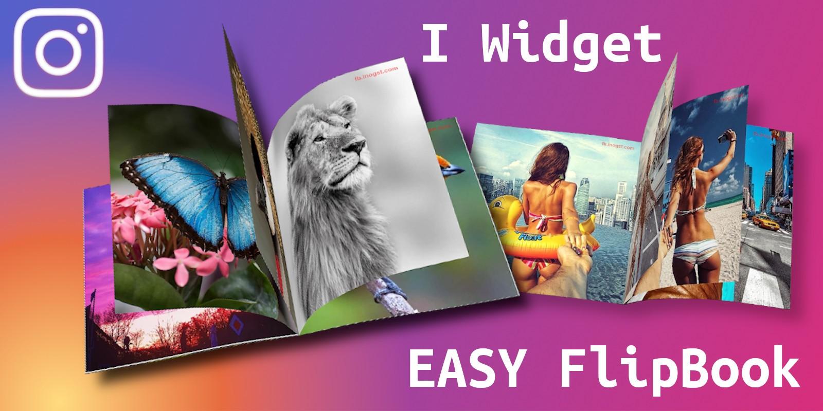 Easy FlipBook Instagram Widget - WordPress Plugin