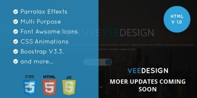 Veedesign - Multi-Purpose One Page HTML Template