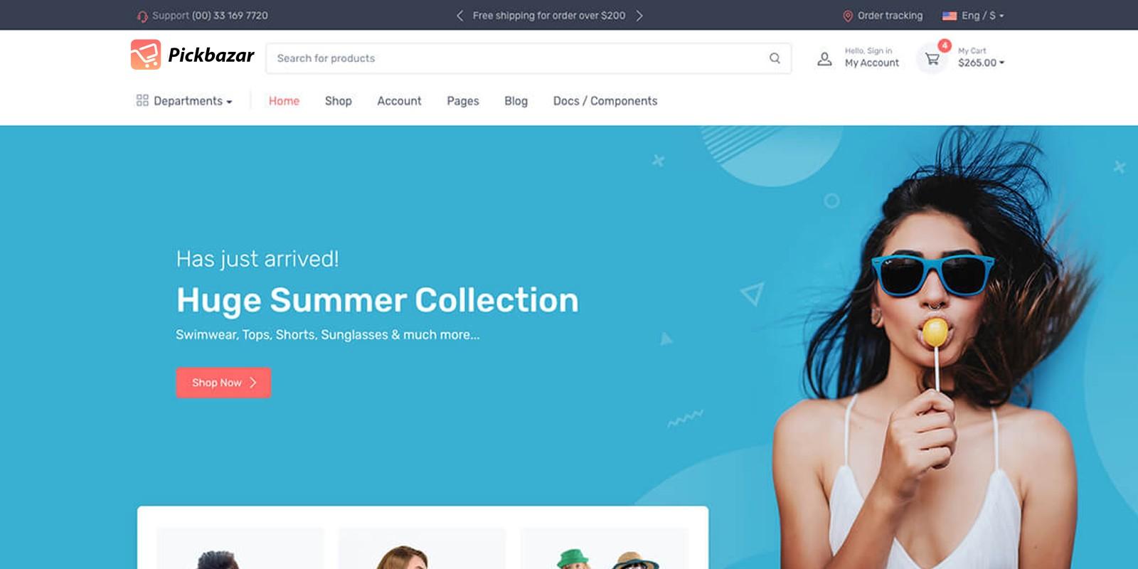 Pickbazar - Multipurpose E-commerce Template