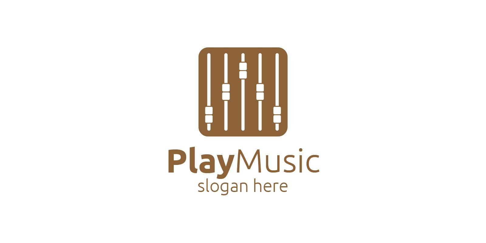 Recording Studio Music Logo with Play Concept