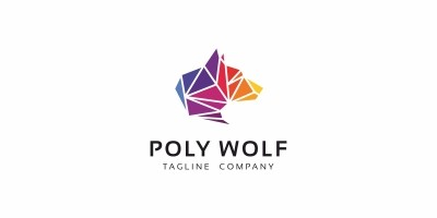 Poly Wolf Logo