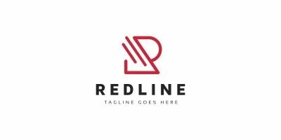Red Line R Letter Logo