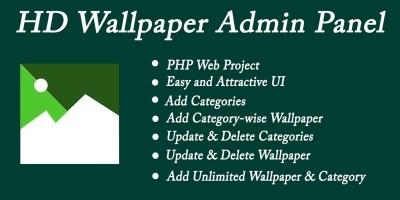 HD Wallpaper Admin Panel - PHP With Mysql