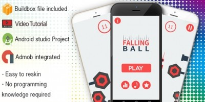 Falling Ball Buildbox Template With Admob