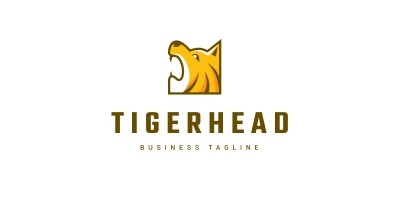 Brave Tiger Head Logo Template