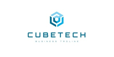 Cube Tech Hexagon Logo Template