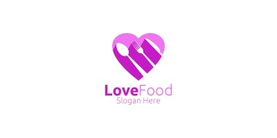 Love Healthy Food Logo  for Restaurant or  Cafe