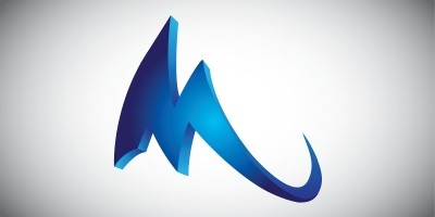Amazing M in blue