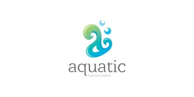 Aquatic - Letter A Logo Template