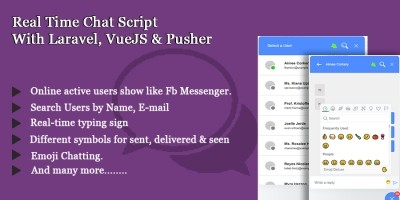 Real Time Chatting Script Build with VueJS