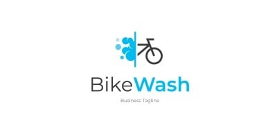 Bike Wash Logo Template