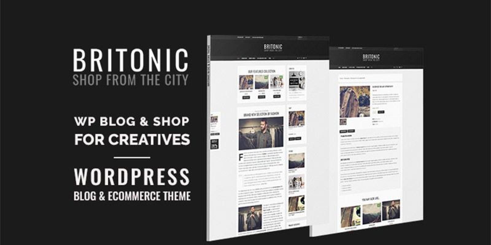 Britonic WordPress Blog Theme