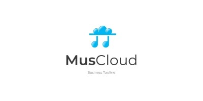 Cloud Music Logo Template