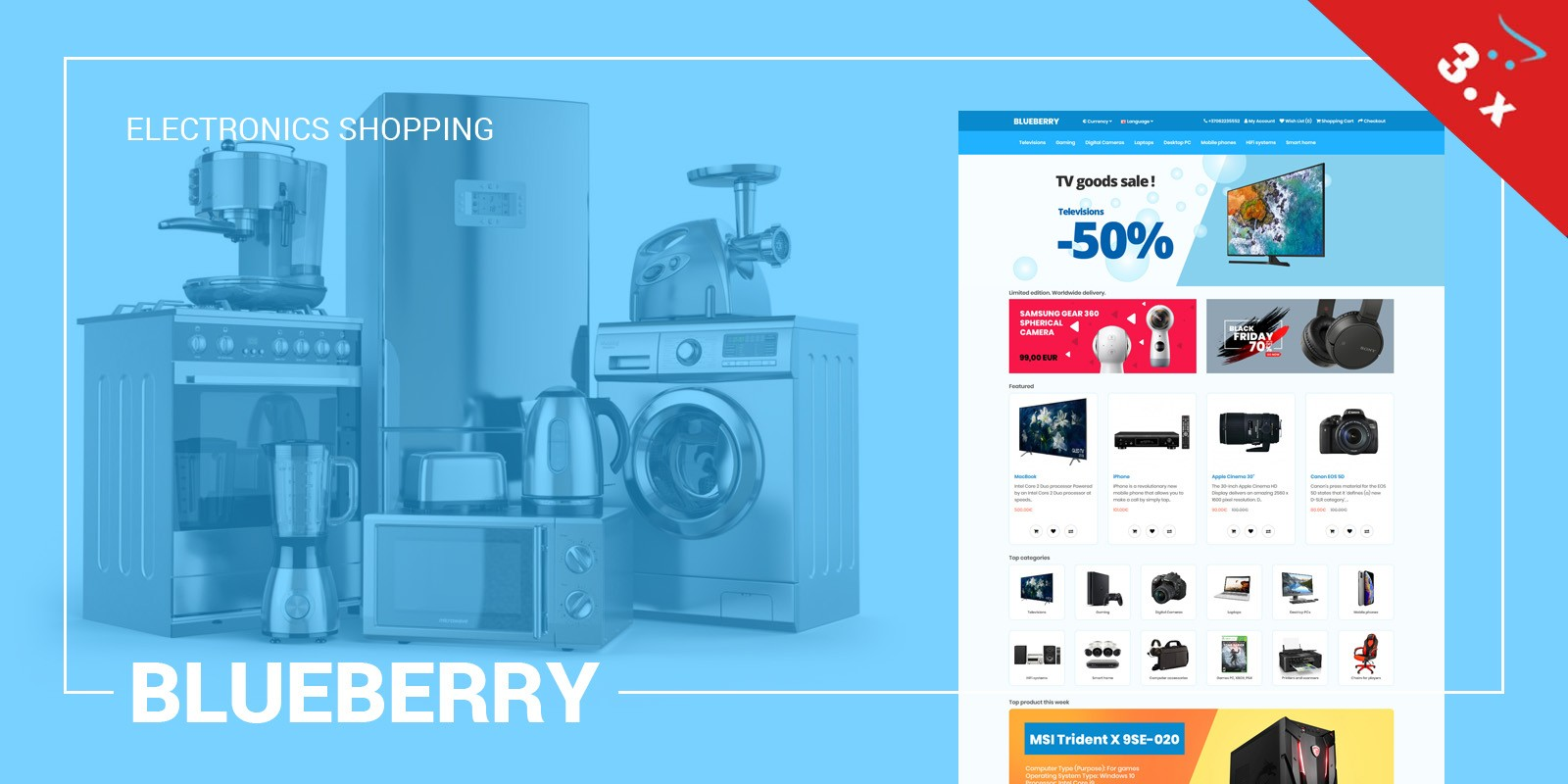 Blueberry OpenCart 3 Responsive Theme