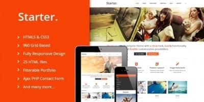 Starter - Responsive HTML Template