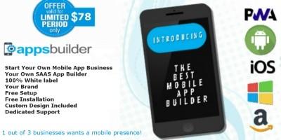 AppsBuilder - SAAS Mobile App Builder Platform