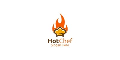 Hot Chef Food Logo For Restaurant Or Cafe