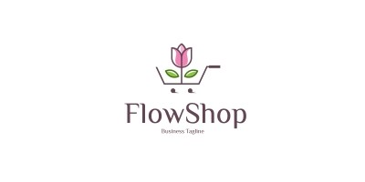 Beauty Flower Shop Logo Template