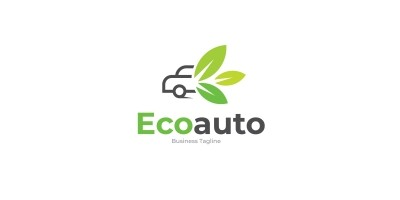 Eco Auto Logo Template