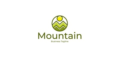 Nature Mountain Logo Template
