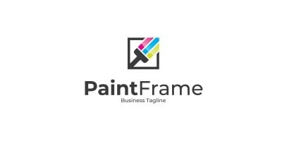 Paint Frame Logo Template