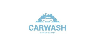 Bubble Car Wash Logo Template