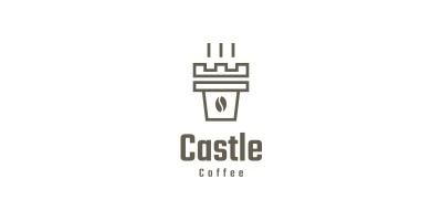 Castle Coffee Logo Template