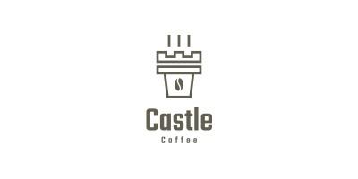 Castle Coffee Logo Template