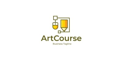 Graphic Design Course Logo Template