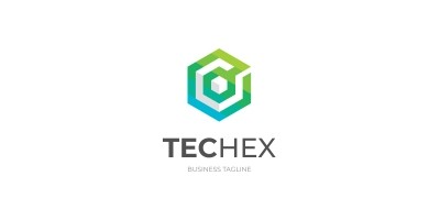 Tech Hexagon Logo Template