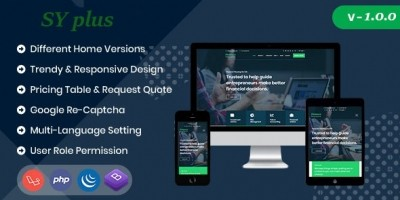 Sy Plus - Multipurpose Business Website CMS
