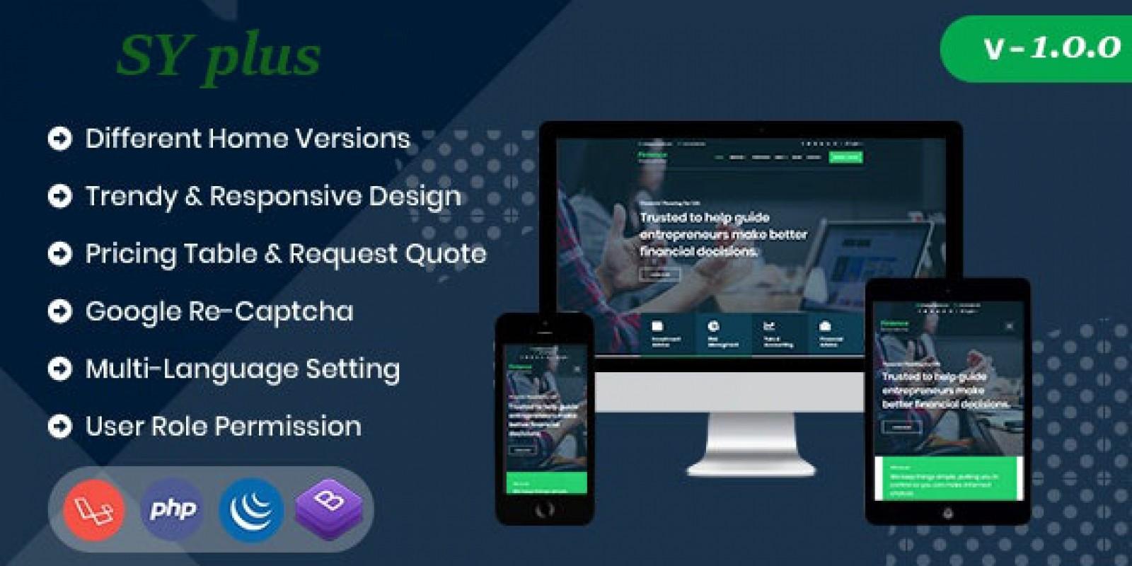 Sy Plus - Multipurpose Business Website CMS