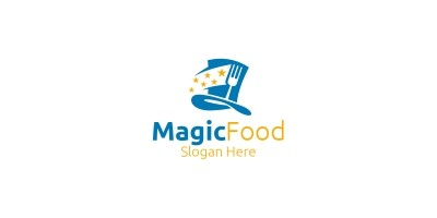 Magic Food Logo For Restaurant or Cafe