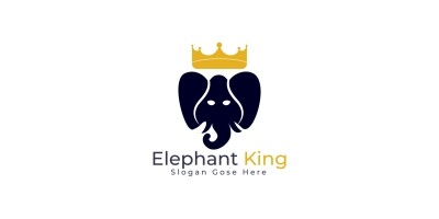 Elephant King Logo Design