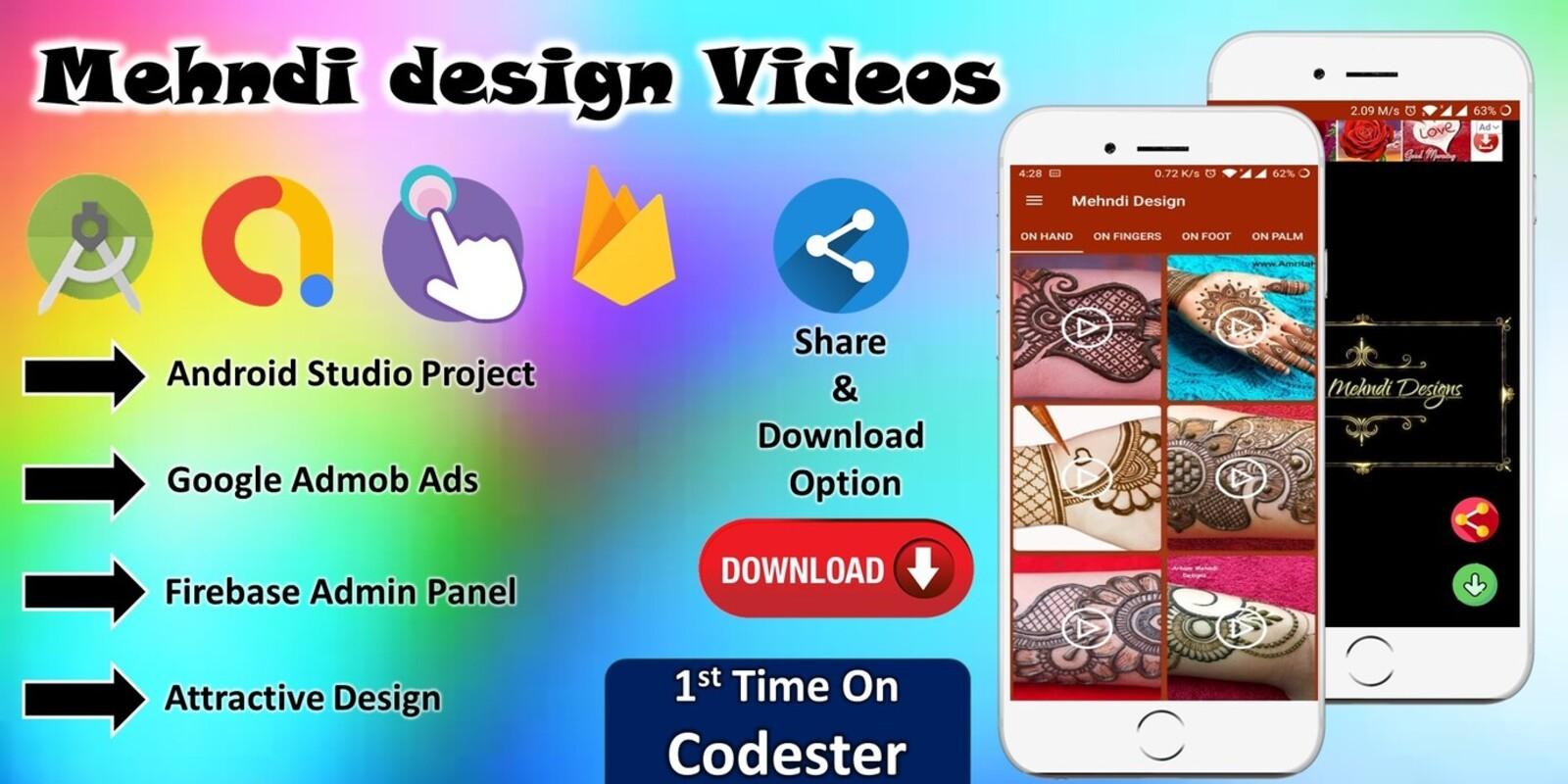 Mehndi Designs Videos Android App Source Code