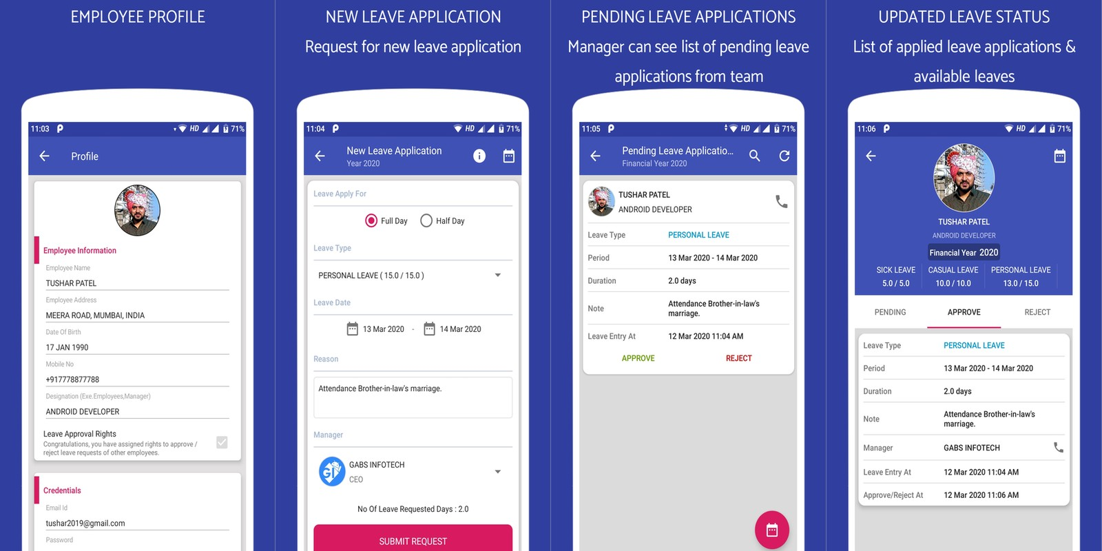 Leave Application - Android Source Code