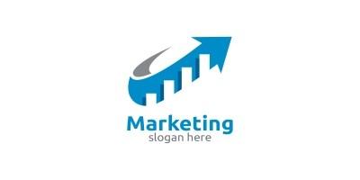 Marketing Financial Advisor Logo Design Template