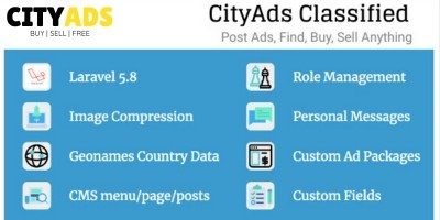 CityAds Classified - Online Marketplace Software