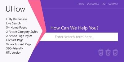 UHow HTML Template