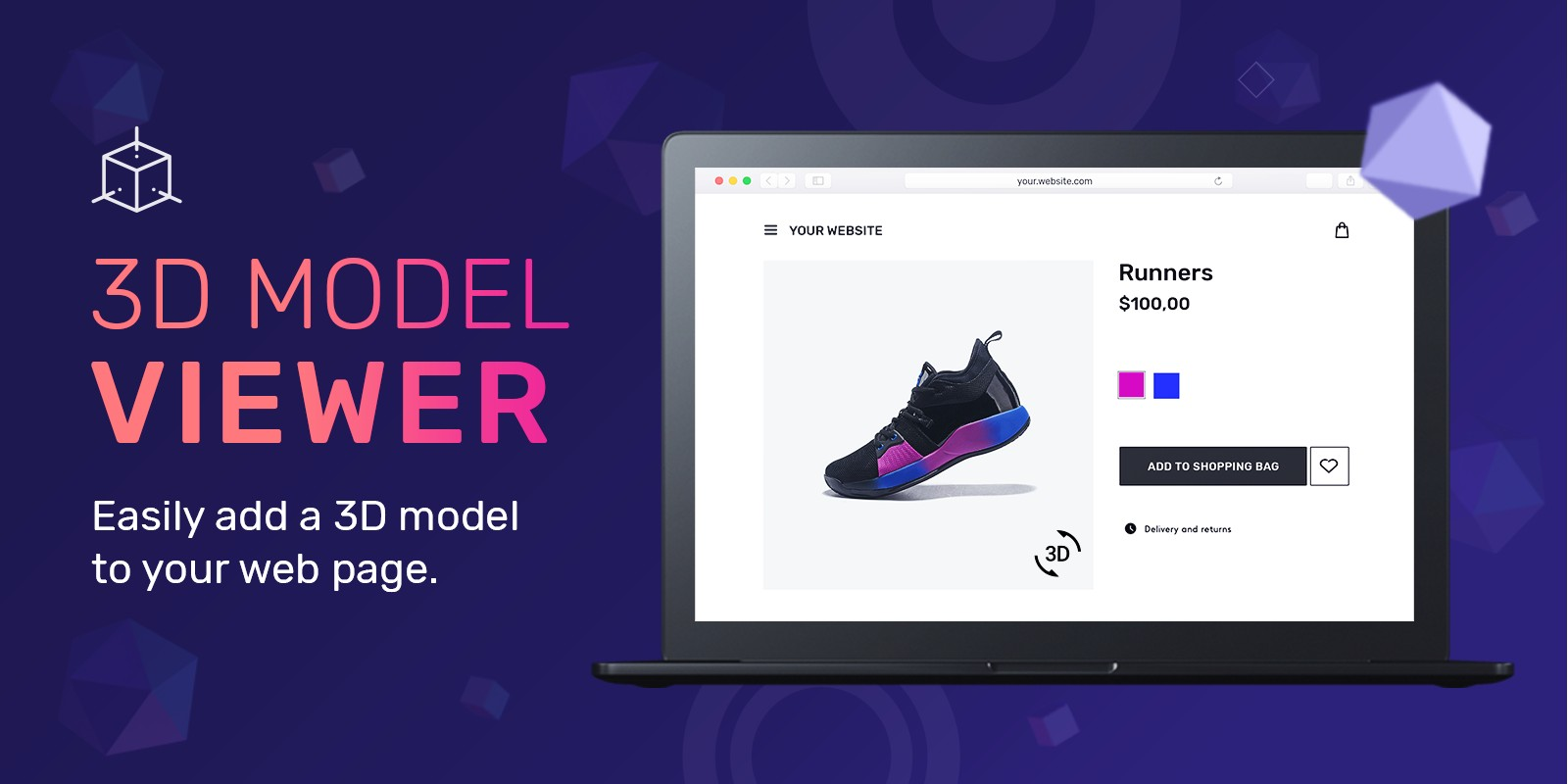 3D Model Viewer WordPress Plugin