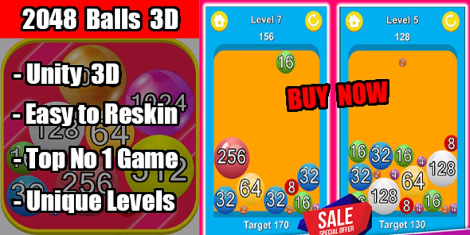 2048 Balls 3D Unity Game Source Code