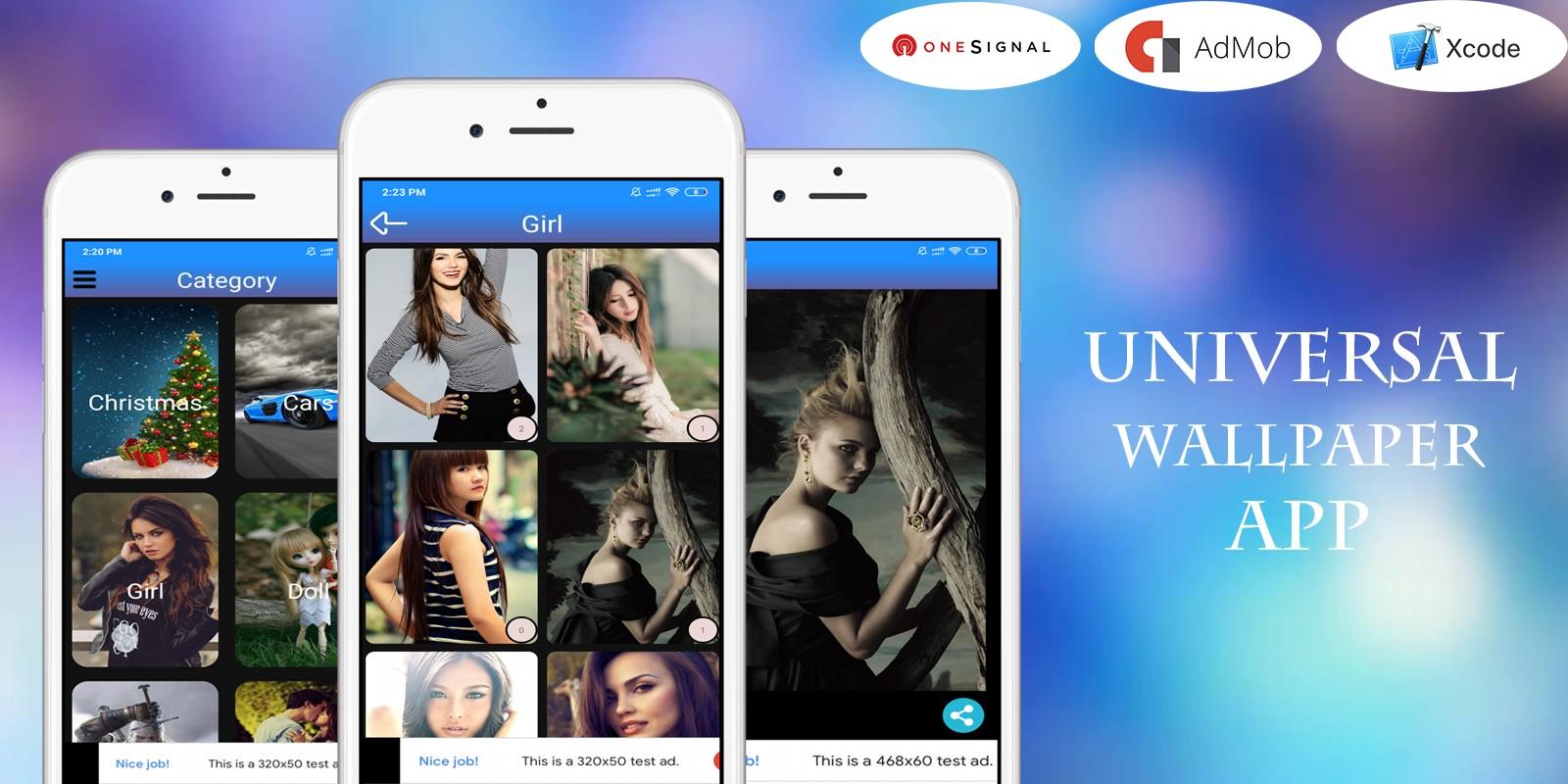 Universal Wallpaper App With Admin Panel - iOS App