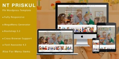 NT Priskul – Education WordPress Theme