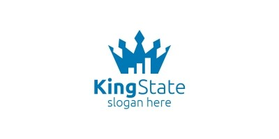 King Marketing Financial Advisor Logo Design
