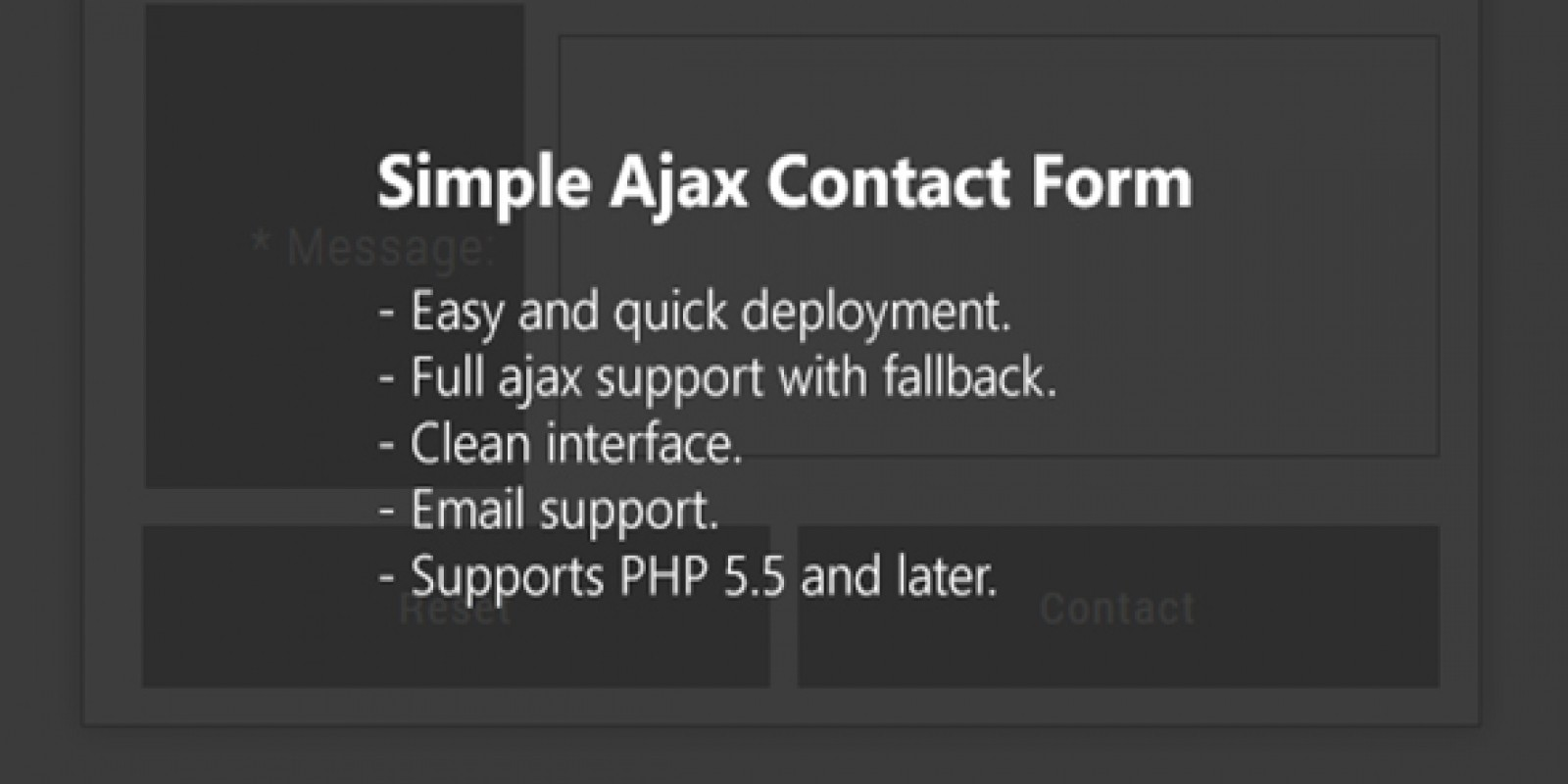 Simple Ajax Contact Form PHP Script