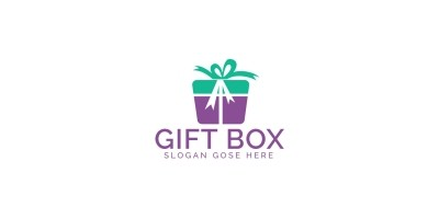 Gift Box Logo Design