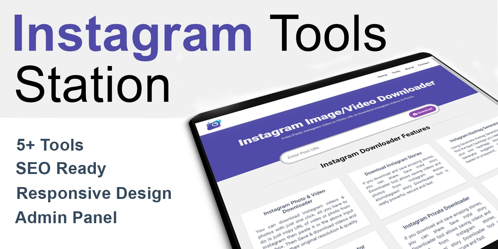 Instagram Tools Station with Admin Panel