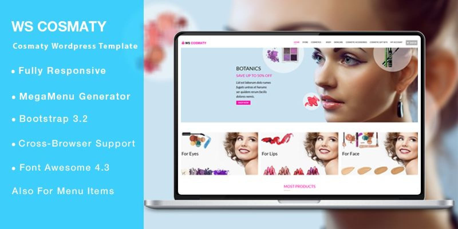 WS Cosmaty – Cosmetics Woocommerce Theme