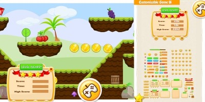 Gorilla Run Platformer Game Assets