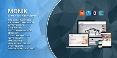Monik - Responsive Multi-purpose Joomla Template